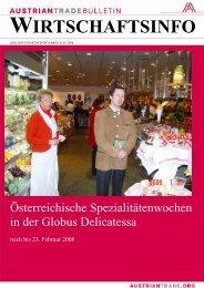 eBulletin 01 2008 - Advantage Austria