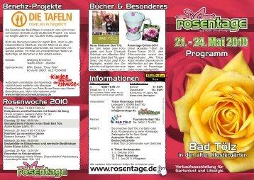 Programmflyer als PDF-Datei - Tölzer Rosen-und Gartentage