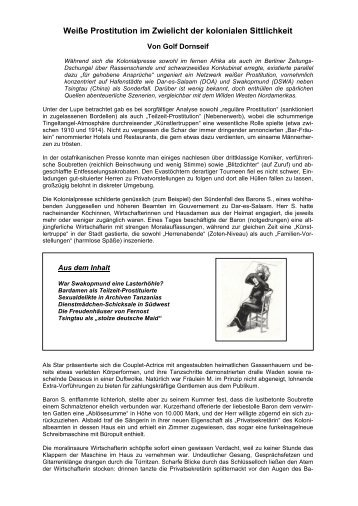 Weiße Prostitution im Zwielicht der kolonialen ... - Golf Dornseif