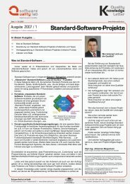 Standard-Software-Projekte - Software Quality Lab