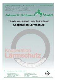 Kooperation Lärmschutz Johann W. Schimmel GmbH