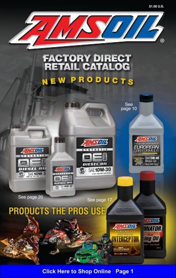 to Shop Online Page 1 - Amsoil Synthetic Motor Oils and Lubricants