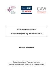 Evaluationsstudie zur Patientenbegleitung der Bosch BKK ...