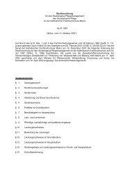 Studienordnung für den Studiengang Pflegemanagement des ...