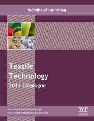 Textile Technology 2013 catalogue.pdf - Woodhead Publishing Ltd.