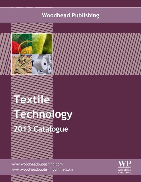 Textile Technology 2013 Catalogue Pdf Woodhead Publishing Ltd
