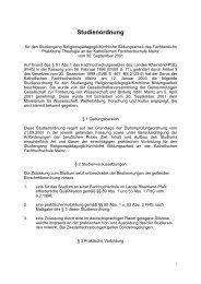Studienordnung - Katholische Hochschule Mainz