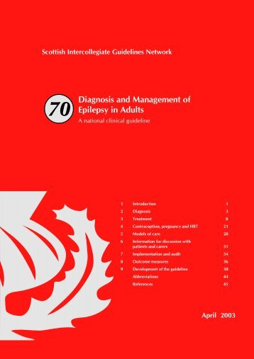 Diagnosis and Management of Epilepsy in Adults. (SIGN Guideline ...