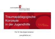 Vortrag von Frau Prof. Dr. Silke B. Gahleitner