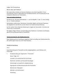 Bericht über das Praktikum - Katholische Hochschule Mainz