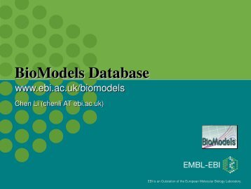 EMBL-EBI Powerpoint Presentation - BioModels
