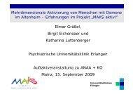 Mehrdimensionale Aktivierung von Menschen mit Demenz im ...