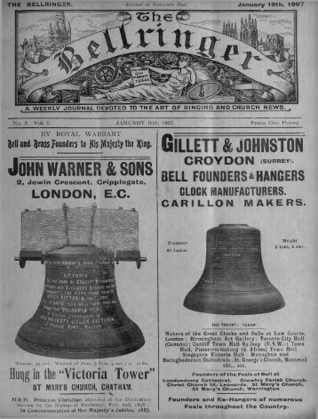 The Bellringer No 3 - Central Council of Church Bell Ringers