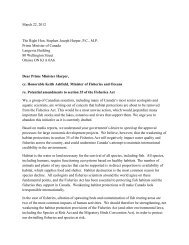 Fisheries Act Letter with signatures noon Tuesday - The Tyee