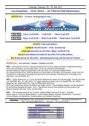 Samstag / Sonntag, 29. / 30. Juni 2013 Jura-Singeltrails - 25 ... - ibone