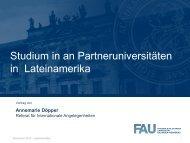 Lateinamerika: Studium an Partnerhochschulen