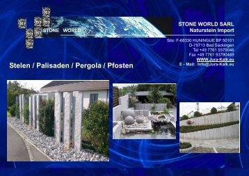 Palisaden / Stelen - STONE WORLD Jura Kalk Natursteinshop