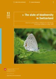 The state of biodiversity in Switzerland