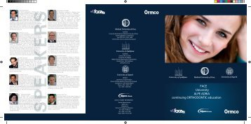 FACE University ALPE ADRIA continuing ORTHODONTIC education