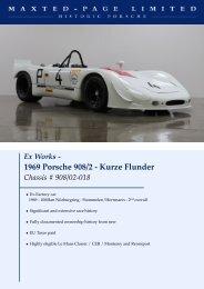 1969 Porsche 908/2 - Kurze Flunder - Maxted Page