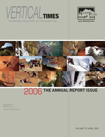 THE ANNUAL REPORT ISSUE - Access Fund