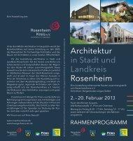 Architektur in Stadt und Landkreis Rosenheim - RosenheimKreis e.V.