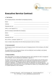 Executive Service Contract - Business Danmark