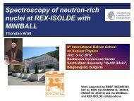 Spectroscopy of neutron-rich nuclei at REX-ISOLDE - Bulgaria