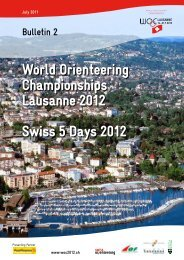 World Orienteering Championships Lausanne 2012 ... - WOC 2012