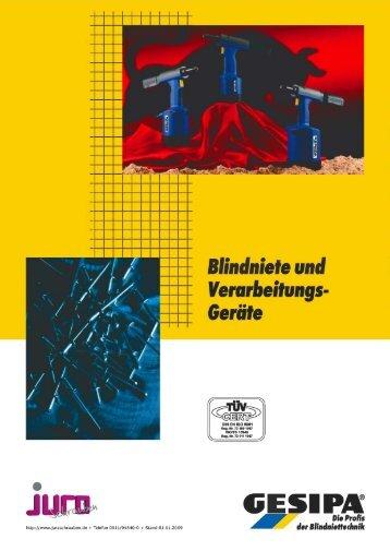 Blindniete Alu/Stahl Standard - Jura-Schrauben