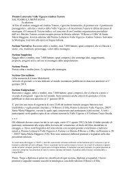 Premio Letterario Valle Vigezzo-Andrea Testore ... - Comune di Cevio