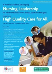 Nursing Leadership High Quality Care for All - Healthcare ...