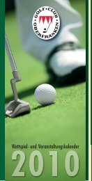 Wettspielkalender 2010 - Download 3,7 MB - Golf Club Oberfranken