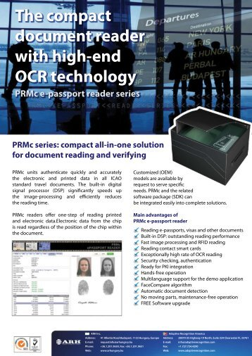 PRMc Multireader - Adaptive Recognition Hungary