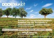 Antwort auf Sockelarbeitslosigkeit: Abgelöst von der ... - Dock Gruppe