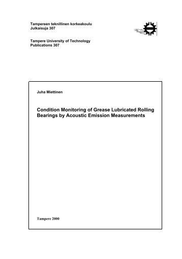 Condition Monitoring of Grease Lubricated Rolling Bearings - Andritz