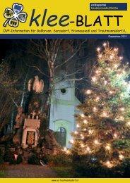 Kleeblatt Ausgabe Dezember 2011 - Volkspartei Trautmannsdorf