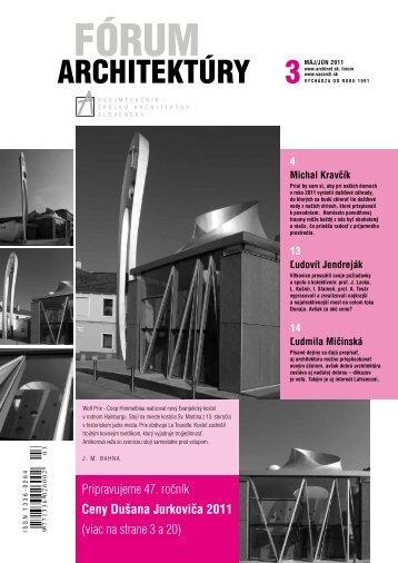 Fórum architektúry 3/2011 - Spolok architektov Slovenska