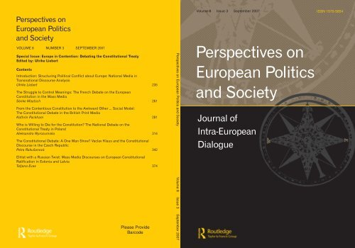 Perspectives on European Politics and Society CEuS