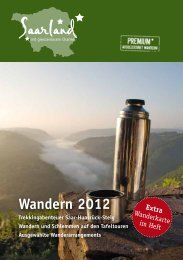 Wandern 2012 - Tourismus Zentrale Saarland