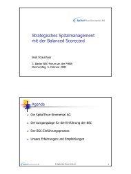 Strategisches Spitalmanagement mit der Balanced Scorecard