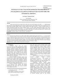 peningkatan sifat magnetik kompleks polimer - Digilib ITS
