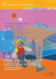 Dritte Weinauktion der Munich Wine Company