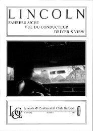 fahrers sicht vue du conducteur driver' s view - Lincoln & Continental ...