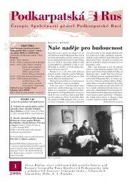 ve formátu PDF ke stažení - Podkarpatská Rus