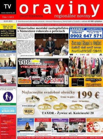regionálne noviny - TV Oravia