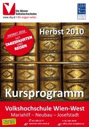 Kursprogramm - Verband Wiener Volksbildung