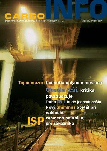 CARGO INF 11-07.indd - ZSSK Cargo