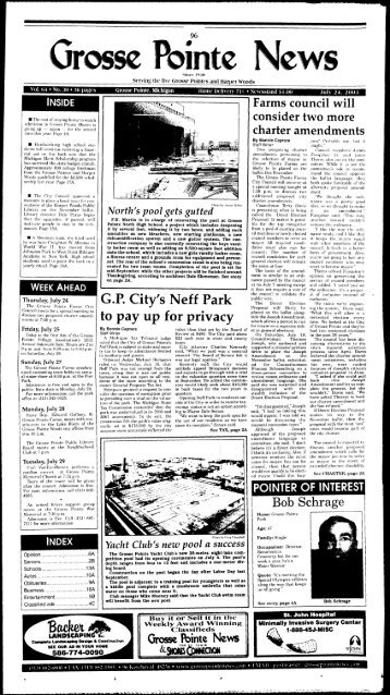 G.P. City's Neff Park to pay up for privacy - Local History Archives