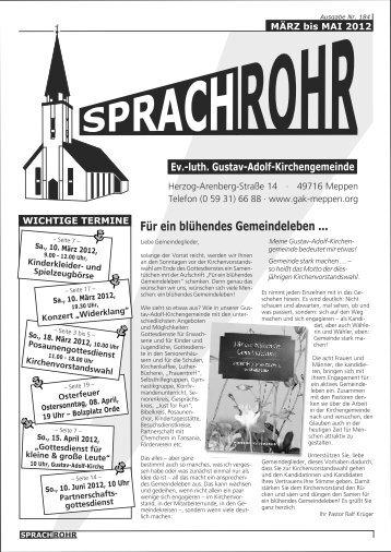 Für ein blühendes Gemeindeleben ... - luth. Gustav-Adolf ...